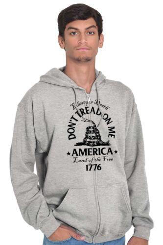 Gadsden Flag Dont Tread On Me Culpeper USA Patriot Gift POTUS Zip Hoodie