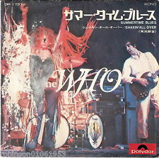 THE WHO SUMMERTIME BLUES SHAKIN`ALL OVER  RARE JAPANESE PRESSURE of 1969 SELTEN!