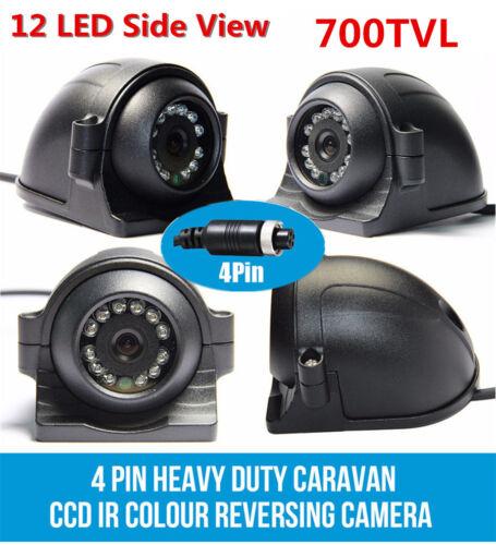 12-24V 4 Pin Heavy Duty Caravan CCD IR Side View Reversing Camera Waterproof