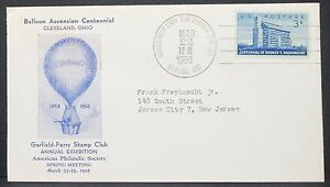 Balloon-Ascension-Centennial-Cachet-US-Cover-Ohio-3c-USA-Ballonpost-Brief-Y-146