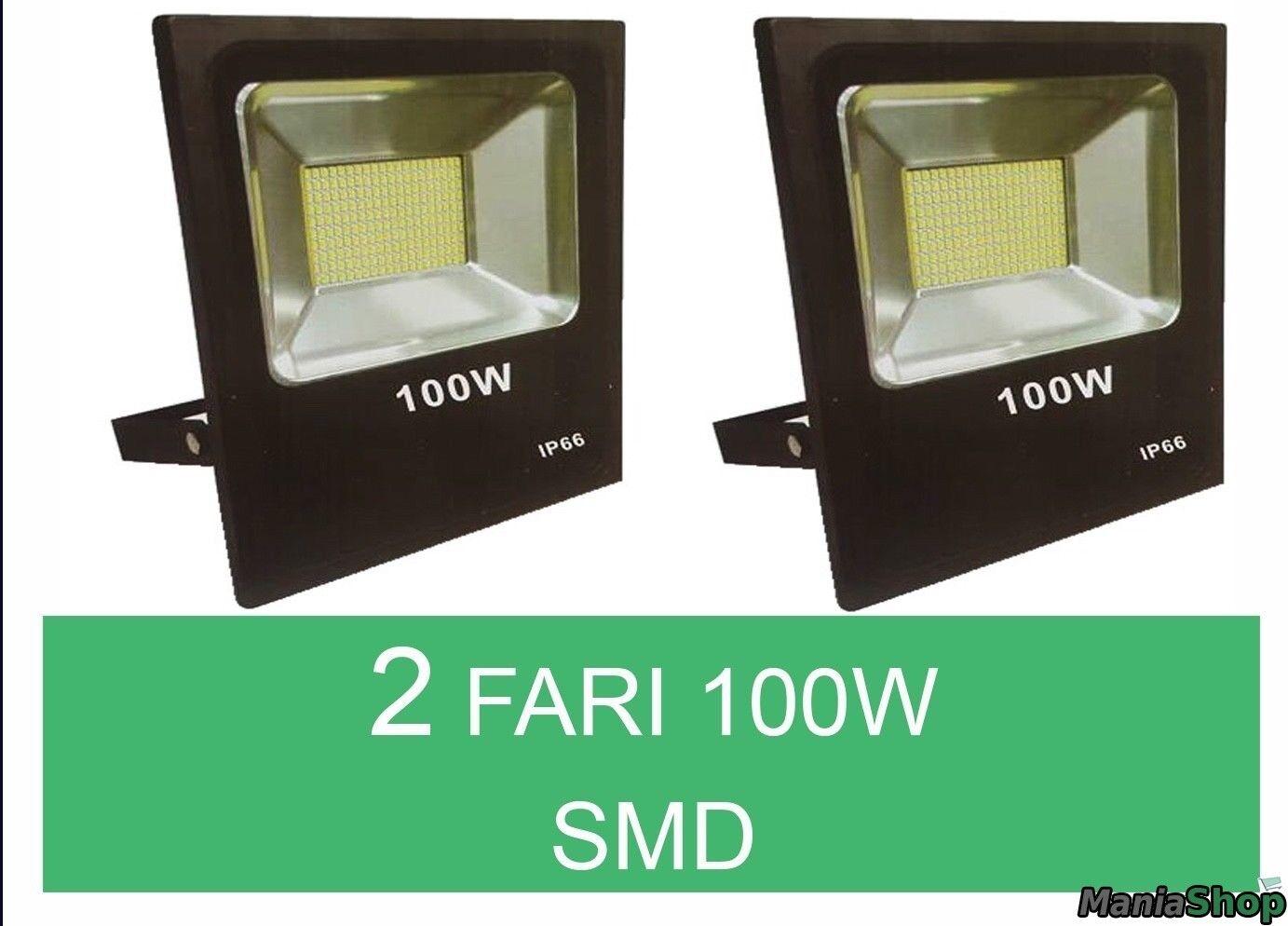 Faro led esterno smd w w w slim pezzi ip luce