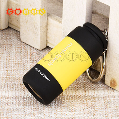 LED Flashlight Rechargeable USB Light Keychain Mini Torch orch Waterproof