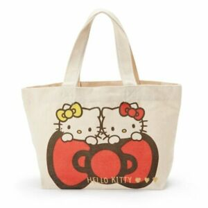 24e90f5c987d Hello Kitty Sanrio  New  Canvas Mini Tote Bag (Kitty   Mimi) Kawai ...