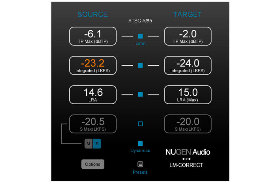NUGEN Audio LM-Correct 2 with DynApt Extension
