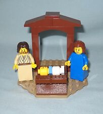 NEW LEGO MINI CHRISTMAS NATIVITY CRECHE, MARY, JOSEPH,BABY JESUS ON OCTAGON BASE