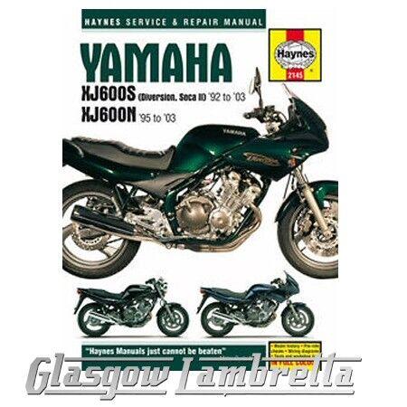 Haynes Manual 2145 YAMAHA XJ600S (DIVERSION, SECA II) & XJ600N FOURS + stickers