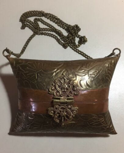 Purse Copper Mixed Metal Antique French Brass IYeWD29HbE