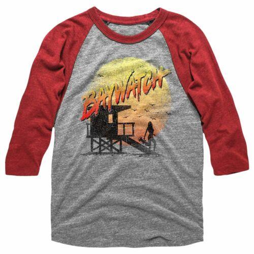 Baywatch Cracked Up Adult Raglan Baseball T-Shirt