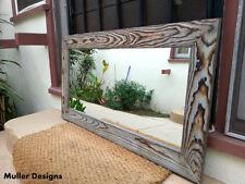large wood mirror sky blue/full length mirror/floor mirror/reclaimed wood
