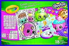 Crayola Shopkins 18 Giant Colouring Pages Posters Sheets 49cm X 32cm ...