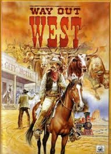 WAY OUT WEST - WILD WEST BOARD GAME -  WARFROG  - SENT FIRST CLASS - USED