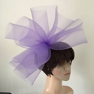 696fafaf Image is loading light-pale-purple-lilac-fascinator-millinery-burlesque- wedding-