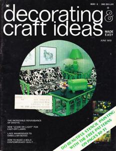 Craft Books 1471 Decorating Craft Ideas June 1973 Ebay
