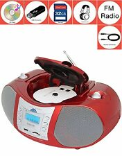 BOYTONE Bt-6r CD Boombox Red Metallic Color Edition Portable Music System With C