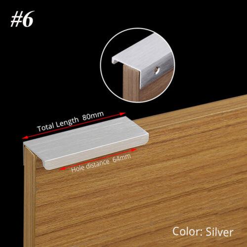 Door Cupboard Kitchen Hidden Handle Drawer Knob Zinc Alloy Cabinet Pulls New UK