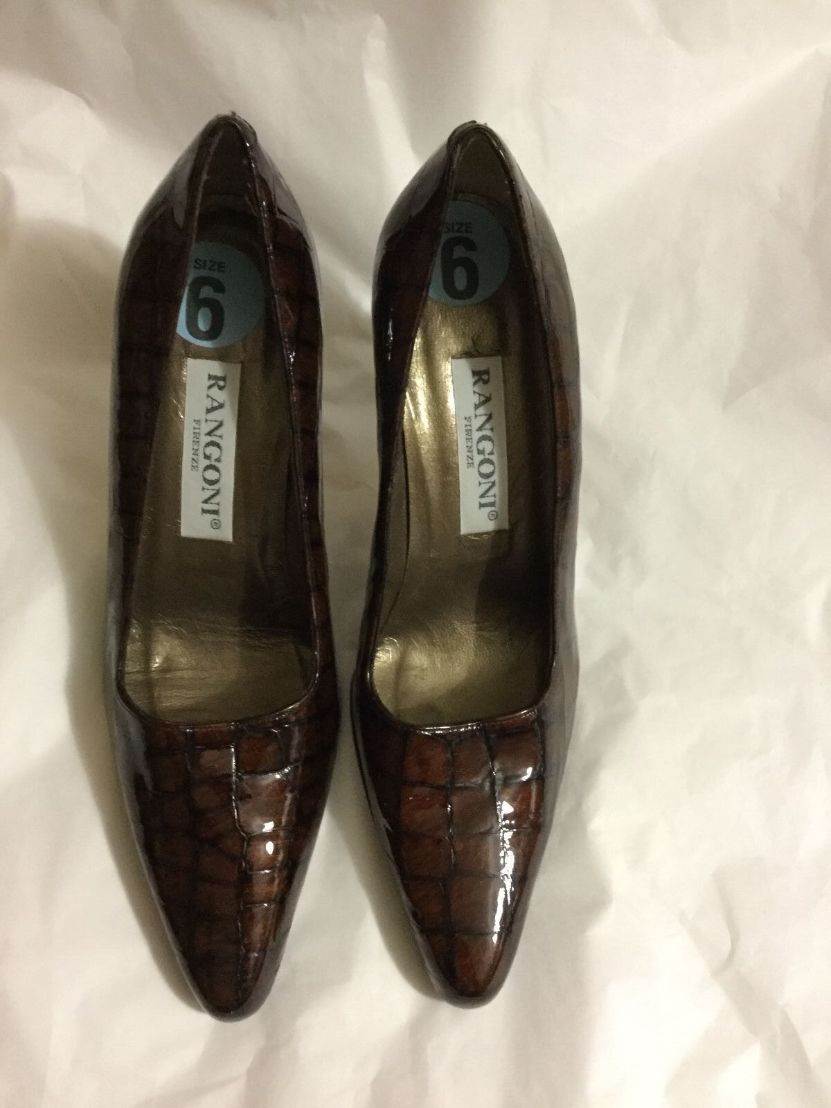 NEU Rangoni Firenze Made in  Leder Pumps - 6