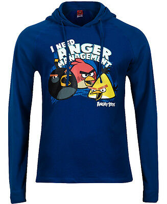 The Cheapest Price ✪ New Angry Birds Men's Size Small Blue Hoodie Hoody Hooded Top ✪ Easy To Repair Clothing, Shoes & Accessories