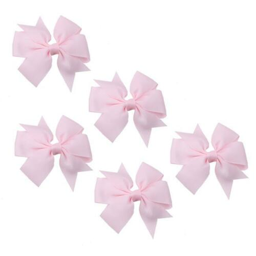 5Pcs hair bows bande Boutique Alligator Pince Gros-Grain Ruban Pour Fille Bébé Enfant G