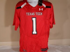 wholesale dealer d50ec cfa82 Details about New Under Armour Texas Tech Red Raiders Sideline Authentic  Home Football Jersey