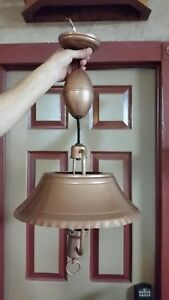 Vintage Mid Century Copper Pull Down