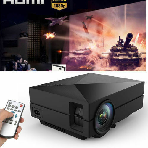 New Mini 5000LM 1080P Full HD LED Video Projector Home Theater Cinema Multimedia