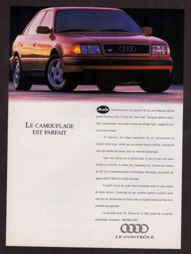 sunlight 1992 AUDI S4 Vintage Original Print AD 4-door sedan Red car photo