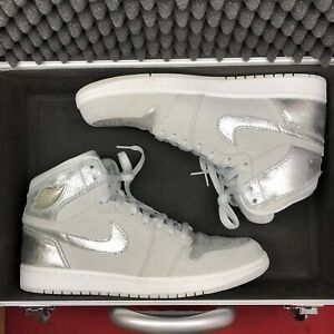 ba3cd585c3cabf 2009 NIKE AIR JORDAN 1 RETRO HI SILVER