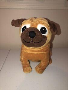 "Pug Dog Yip Snap Yap Plush Toy Kohls Stuffed Animal Charles Fuge Brown Puppy 10/"""