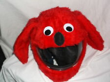 MOTORBIKE FUNNY HEEDS CRAZY CRASH  HELMET COVERS  MOTORCYCLE  COVER RED  DOG