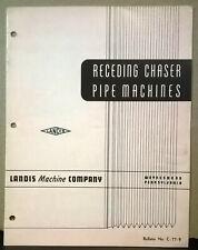 Brochure Receding Chaser Pipe Machines Landis Machine Company