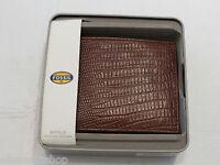 Ml3500222 Francis Bifold Cognac Men's Wallet Fossil Credit Card Id Rare Billfold