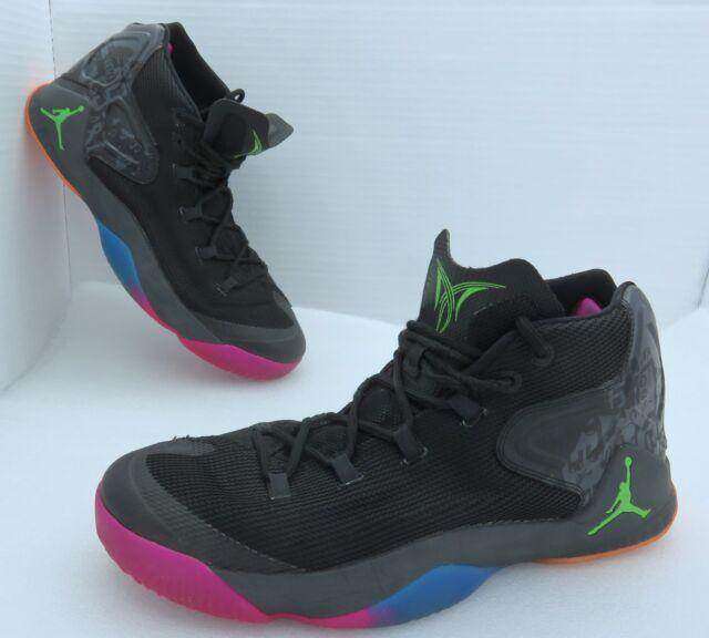 924e0a3f789d00 Used Nike Air Jordan Melo M12 Sz13 Dungeon Black Green Ghost Metallic  827176-030