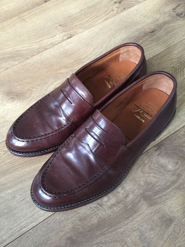 J.CREW Uomo LUDLOW PENNY LOAFERS DRESS SHOE A4362 SIZE 8 D  298 BROWN