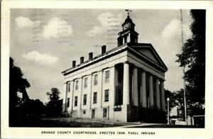 1939-PAOLI-IND-COURT-HOUSE-POSTCARD-T23