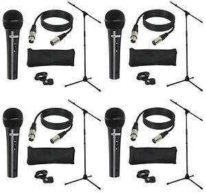 4-Stueck-LD-Systems-MICSET1-Mikrofonset-m-Mikrofon-Mikrofonstaender-5m-Mikrokabel