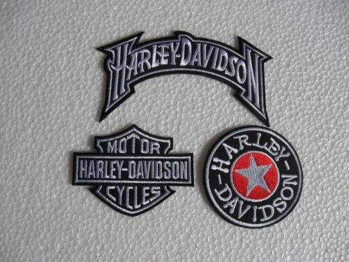 3x écusson patch motorcycles harley-davidson Racing Moto Sport Motard Race GT