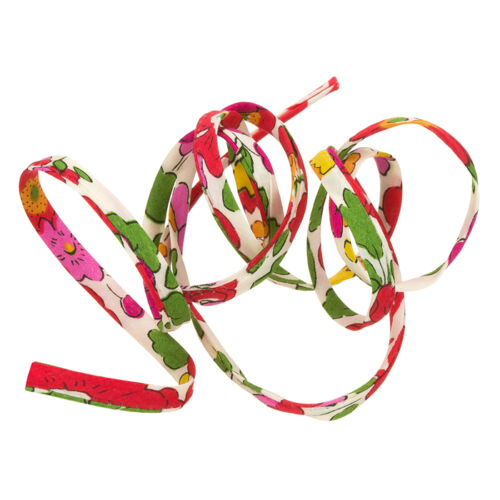 K43//6 Liberty of London Betsy S Print Red Green Yellow 4mm Ribbon Cord 1m