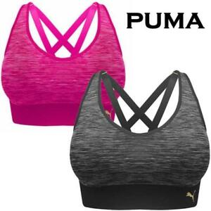 d7a427d2 NEW OPEN WOMENS PUMA SEAMLESS COMFORT STRAPPY SPORTS BRA REMOVABLE ...