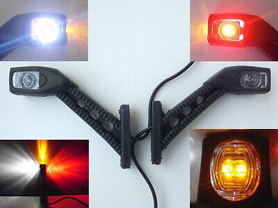 2 X Led Side Light Marker Lamps Scania Volvo Daf Truck Trailer 12 Volt 12v