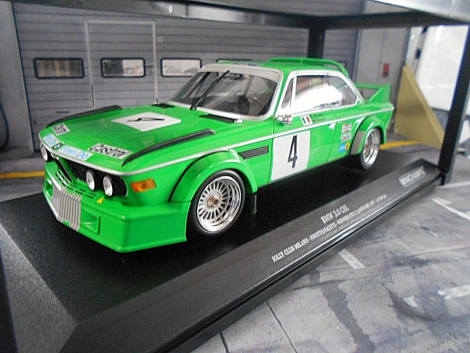 Bmw 3.0 CSL ETCC Zandvoort 1979 winner  4 finotto facetti Jolly Minichamps 1 18