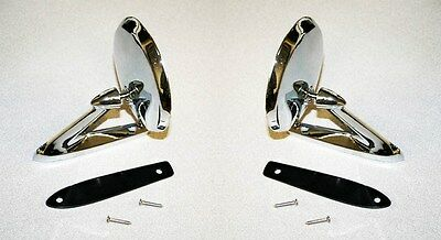 NEW 1964-1966 Mustang Chrome Outside Mirror Right & Left Side Mirrors DRAKE