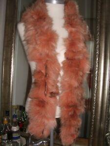 Einkaufen harmonische Farben gut kaufen Details zu Hasenfell Kaninchen Pelz Echtfell Schal apricot