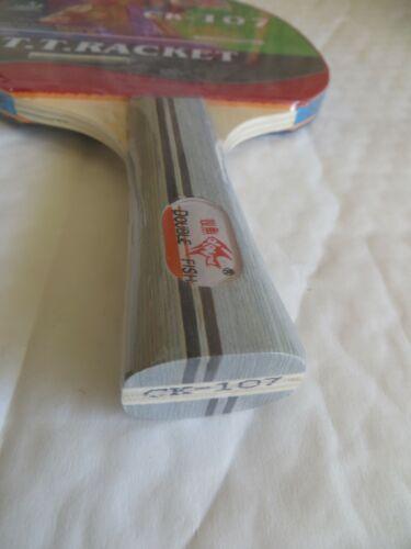Beginner level long handle shakehand ping pong racket table tennis paddle
