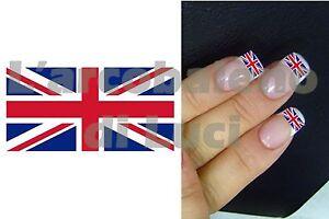 20 Pegatinas Para Uas Bandera Inglesa Uk Flag Nail Art Nails