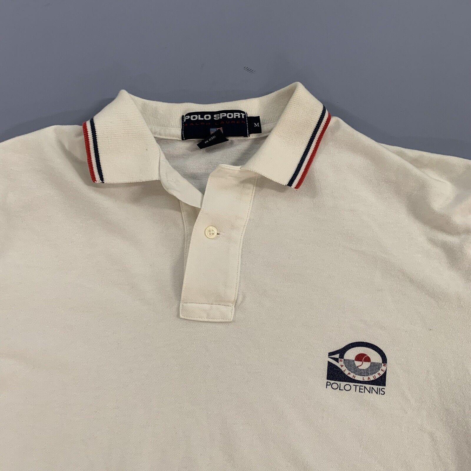 Vtg 80s 90s Polo Sport Tennis Shirt Single Stitch… - image 1