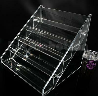 5 TIERS NAIL POLISH VARNISH ACRYLIC DISPLAY STAND HOLDS APPROX 20/30/60 BOTTLES