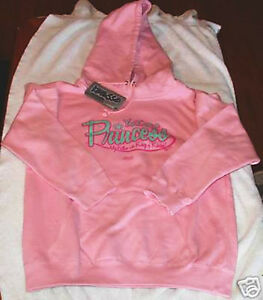 YES-I-AM-A-PRINCESS-Pink-Hoodie-Pullover-SMALL-Sweatshirt-Christian-Apparel