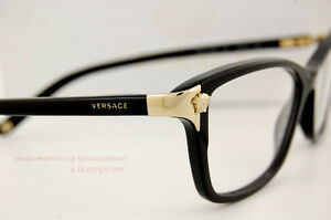 cec8cf4691a9 Brand New VERSACE Eyeglasses Frames 3156 GB1 BLACK for Women 100 ...