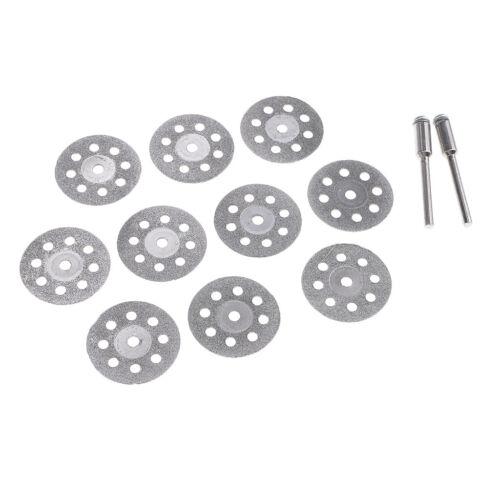 10x 22-40mm Diamond Saw Blade Cutting Disc Rotary Wheel Grinding 2 Mandrel