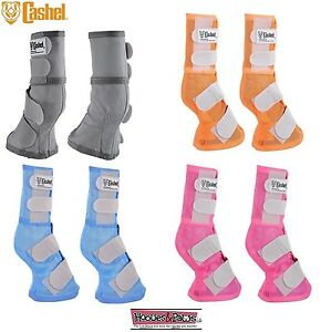 Cashel-LEG-GUARDS-Boots-Fly-Control-Horse-Arab-Warmblood-Blue-Pink-Orange-Gray
